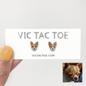 Custom Chihuahua Earrings