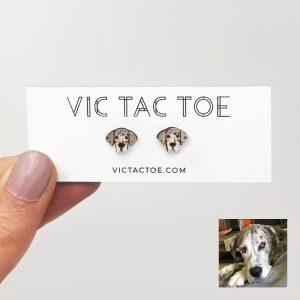 custom great dane earrings