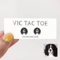custom king charles spaniel earrings