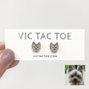 custom yorkie earrings