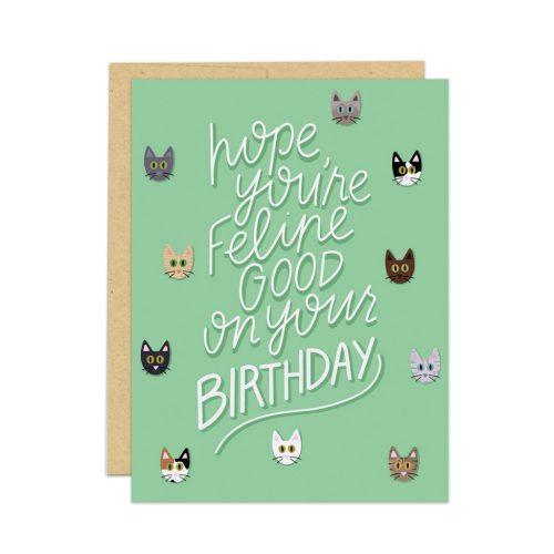 cat lover birthday card