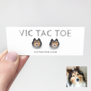 sheltie earrings