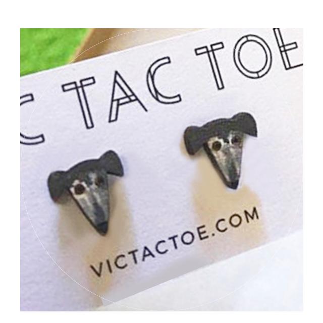 custom greyhound earrings