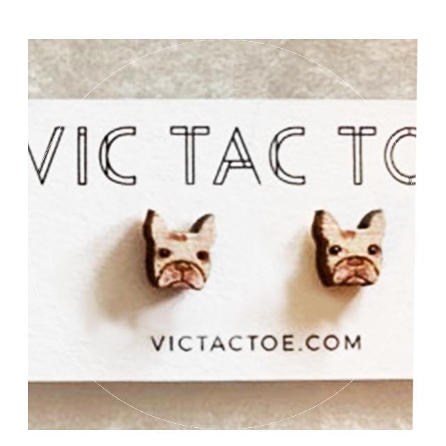 custom boston terrier earrings