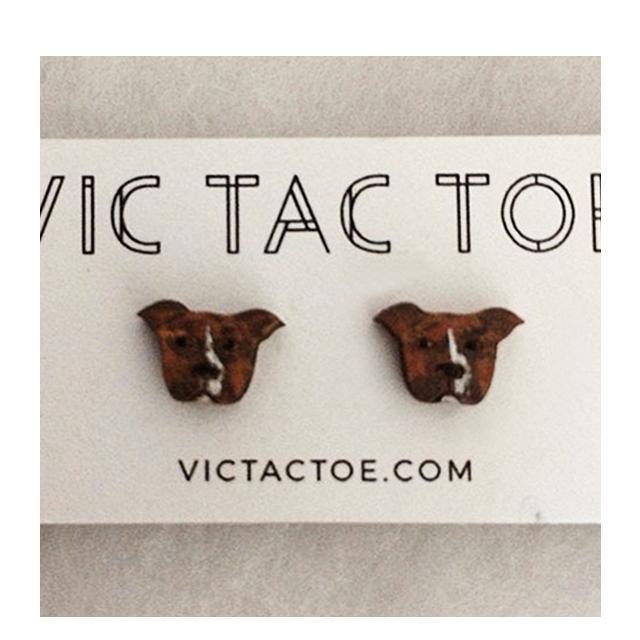 pitbull earrings, custom pet earrings, custom dog earrings, pitbull earrings