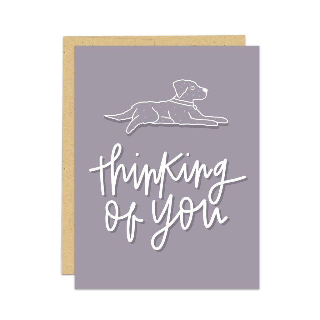 pet sympathy card, dog sympathy card, thinking of you card